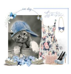 """Cats in hats"" by danigrll ❤ liked on Polyvore featuring Cameo Rose, Oscar de la Renta, Philipp Plein and Armenta"