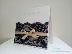 Black Lace Wedding Invitation modern vintage by EmbellisheDesigns, $11.00