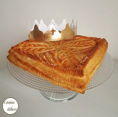 Galette des rois : crème d'amande, pomme, caramel beurre salé