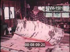 BIRCH CANOE BUILDER 1973 - YouTube