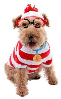 Where's Waldo Woof Dog Costume - Pet Costumes