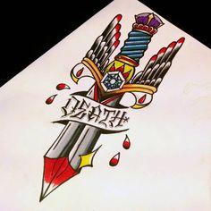 neo traditional dagger - Google Search