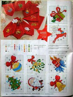 Bordado Cross Stitch Christmas Cards, Xmas Cross Stitch, Cross Stitch Kitchen, Christmas Cross, Cross Stitch Charts, Cross Stitch Designs, Cross Stitching, Cross Stitch Embroidery, Cross Stitch Patterns