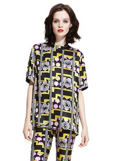 f4199ee72f6145 M.I.A. x Versus Versace capsule collection. Slip on this silk maxi t-shirt  for