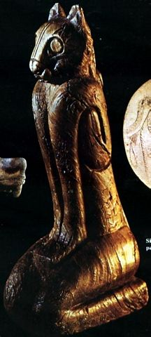 This cat and dog--burial effigies from Mississippian mounds--rival anything found in contemporary Egypt or China.