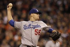 The  Dodgers Stephen Fife gives up only one run in the 5-3 win vs. the Giants on July 27, 2012.