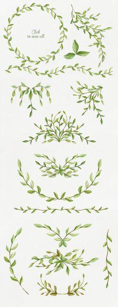 Foliage. Elegant floral set by NataliVA on Creative Market: