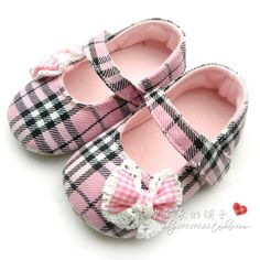 pink plaid mary jane shoes