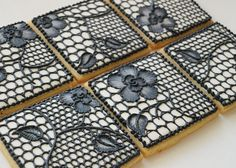 Black Lace Cookies. I don't know if I love anybody enough to make these for them...that's a lot of detail!