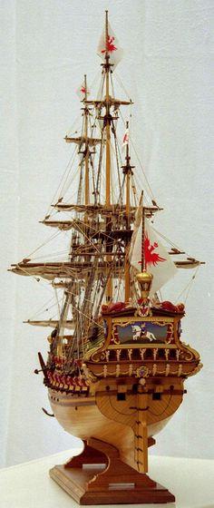 FriedrWilh, Ansicht v BB achtern,gr.jpg Saved by Stephen Lok Model Sailing Ships, Old Sailing Ships, Model Ship Building, Scale Model Ships, Wooden Ship, Boat Stuff, Friedrich, Wooden Boats, Tall Ships