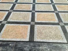 Carport-Batu-Sikat Floor Design, House Design, Carport Designs, Outdoor Flooring, Stone Veneer, Indoor Garden, House Plans, Woodworking, Exterior