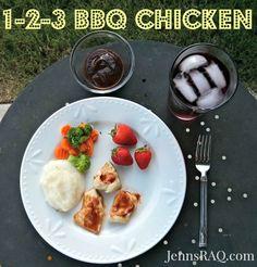 1-2-3 BBQ Chicken #Recipe - Easy and Healthy! - Jenn's RAQ