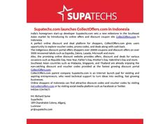 Supatechs com launches CollectOffers com in the Indonesia
