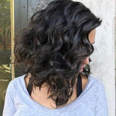 Curly lob by @natalieannehaircare