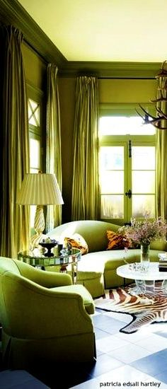 ℳiss Gretel in the Green House Poppy Pea Luxury Interior, Interior Design, Tiffany Green, Green Home Decor, What's Your Style, Luxe Life, Green Rooms, Room Accessories, New Living Room