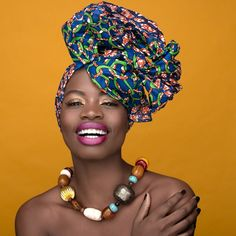 """Prints are never going to go out of style and a great way to incorporate them into your wardrobe is to use African prints! Here are a bunch of ways to rock African fabric (also called """"ankara"""", """"ke… African Beauty, African Women, African Models, African Head Wraps, Africa Fashion, African Design, African Fabric, Beautiful Black Women, Black Girl Magic"""