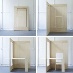 FLKS a flexible workplace: beautiful idea for artist's studio/desk. Design by Kapteinbolt.