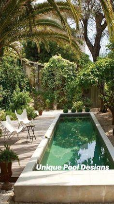 Backyard Pool Landscaping, Backyard Pool Designs, Small Backyard Pools, Small Pools, Swimming Pools Backyard, Swimming Pool Designs, Backyard Ideas, Landscaping Ideas, Kleiner Pool Design