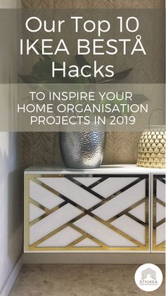 10 luxury IKEA BESTÅ hacks (to raise your home organisation game in 2019 If you've got a storage or home organisation challenge (and who doesn't?) we hazard a guess tha Ikea Sideboard Hack, Furniture Hacks, Ikea Hack, Storage Hacks, Home Organisation, Ikea Sideboard, Ikea Design, Ikea, Ikea Diy