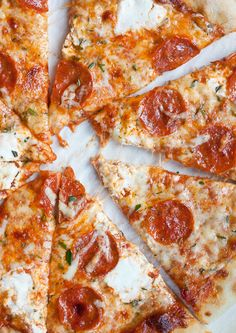 3 Cheese Rosemary and Pepperoni Pizza. That pepperoni is calling my name.