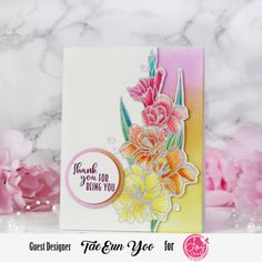 Joy Clair Designs A Ray of Sunshine Release Instagram Hop – rainbow in november Different Flowers, Green Glitter, Digital Stamps, Gel Pens, Watercolor Paper, I Card, Cherry Blossom, Sunshine, November