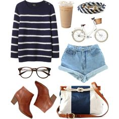 """Navy / Nautical"" by hanaglatison on Polyvore"