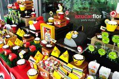 Angry Birds dessert table #angrybirds #desserttable #birthday