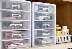 Medicine Cabinet Organization, Linen Closet Organization, Closet Storage, Bathroom Organization, Bathroom Storage, Organization Ideas, Medicine Cabinets, Bathroom Cabinets, Storage Ideas