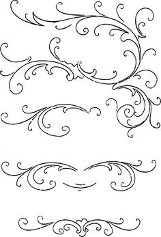 Free calligraphy ornaments clip art
