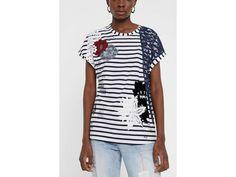 Desigual Ts Refresh Kolekce Jaro/Léto 2020 Mens Tops, T Shirt, Women, Fashion, Supreme T Shirt, Moda, Tee Shirt, Fashion Styles, Fashion Illustrations