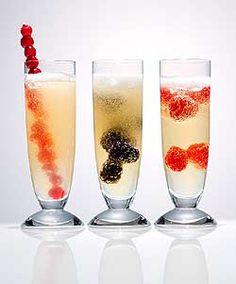 furots rojos y champagne/cava/espumante