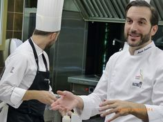 Show-cooking with Michelin Star Chef Mario Sandoval Madrid.http://www.culinaryspain.com/gourmet-activities/cooking-classes-spain/showcooking-or-creative-cooking-class-with-michelin-stars/