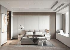 Master Bedroom Interior, Bedroom Closet Design, Modern Bedroom Design, Contemporary Bedroom, Bedroom Design Minimalist, Mini Sala, Bed Back Design, Living Room Setup, Luxurious Bedrooms