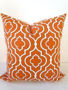 Throw Pillows 18x18 ORANGE Throw Pillow SayItWithPillows