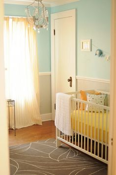 14 Ideas To Decorate A Nursery In A Fresh Color Combo: Yellow And Aqua | Kidsomania