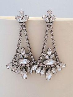 Small Antique Chandelier Earrings   Bridal chandelier earrings ...