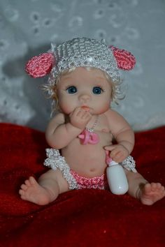 """June"" by Yulia Shaver Original Art OOAK (One Of A Kind) polymer clay baby girl doll 3"""