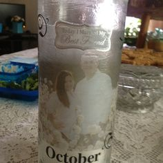 Picture candle holder
