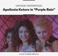 It's been 30 years since Prince's rock-drama Purple Rain hit the big screen. For the anniversary, Tia Williams is channeling costar Apollonia Kotero's berry lips and big, big hair. Music Tv, Music Stuff, Apollonia Kotero, Berry Lips, Press Photo, Purple Rain, Big Hair, Back In The Day, My Beauty