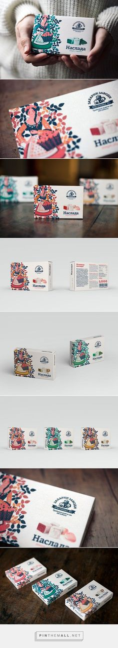 Lokum Turkish Delight creative packaging design. I love the colorful illustration on this box.