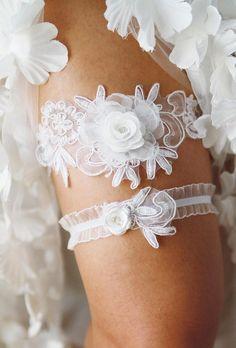Bridal Garter Wedding Garter Set  Keepsake Garter Toss Garter