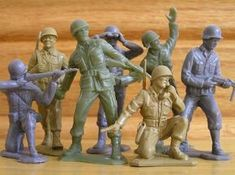 "Marx Toy Company made the best toy soldiers and other figures. Their attention to detail was outstanding. They were the ""Gold Standard"" in their day. Gi Joe, Plastic Toy Soldiers, Plastic Soldier, Retro Toys, Vintage Toys, 1980s Toys, Vintage Stuff, Childhood Toys, Childhood Memories"