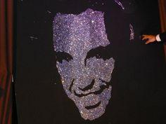 show live Glitter Painting By EriK BLACK Portrait de Nikos ALIAGAS - Animateur TV - Radio