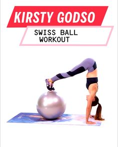 When You're Short on Time, Try This Customizable Workout by Kirsty Godso If you&;re short on time, don&;t skip your workout. Fit this Kirsty Godso, total body circuit workout using an exercise ball to get an intense, quick workout. Fitness Workouts, Yoga Fitness, At Home Workouts, Fitness Motivation, Health Fitness, Sport Motivation, Fitness Ball Exercises, Fitness Sport, Toning Exercises