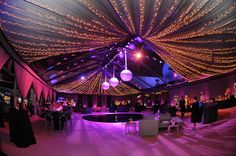 ceiling treatment // Hot Pink Decor / Grammy Party / Classic Party Rentals / Revelry Event Designers / LA Live