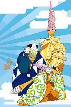 ぺろりん祭 Sweets, Illustration, Anime, Fictional Characters, Image, Gummi Candy, Candy, Goodies, Cartoon Movies