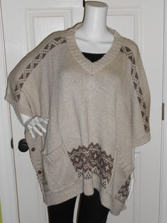 You could sit around a fire in this awesome poncho from Tart, available at Scout & Molly's of Charleston