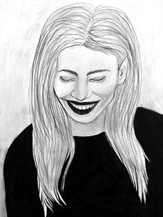 #another #portrait #woman #drawing #pencil #blackandwhite #picture #smile #laugh #art