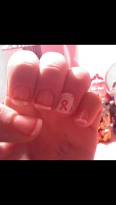 Pink week nails