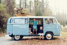 VW bus and flowers family photo shoot by Alea Moore Photography   100 Layer Cakelet